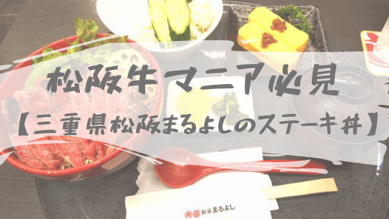 松阪まるよしのステーキ丼を食べた感想【紀伊半島1周・車中泊ドライブ旅】