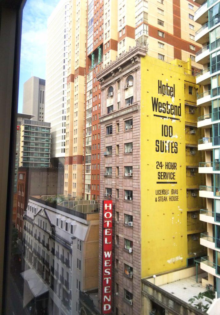 マーローシドニーセントラルホテルからの眺め