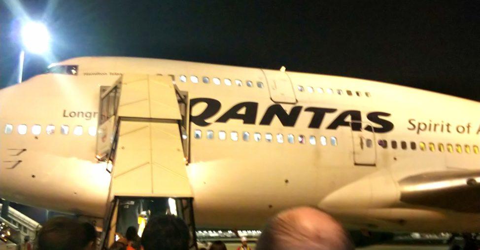 男1人シドニー旅:カンタス航空