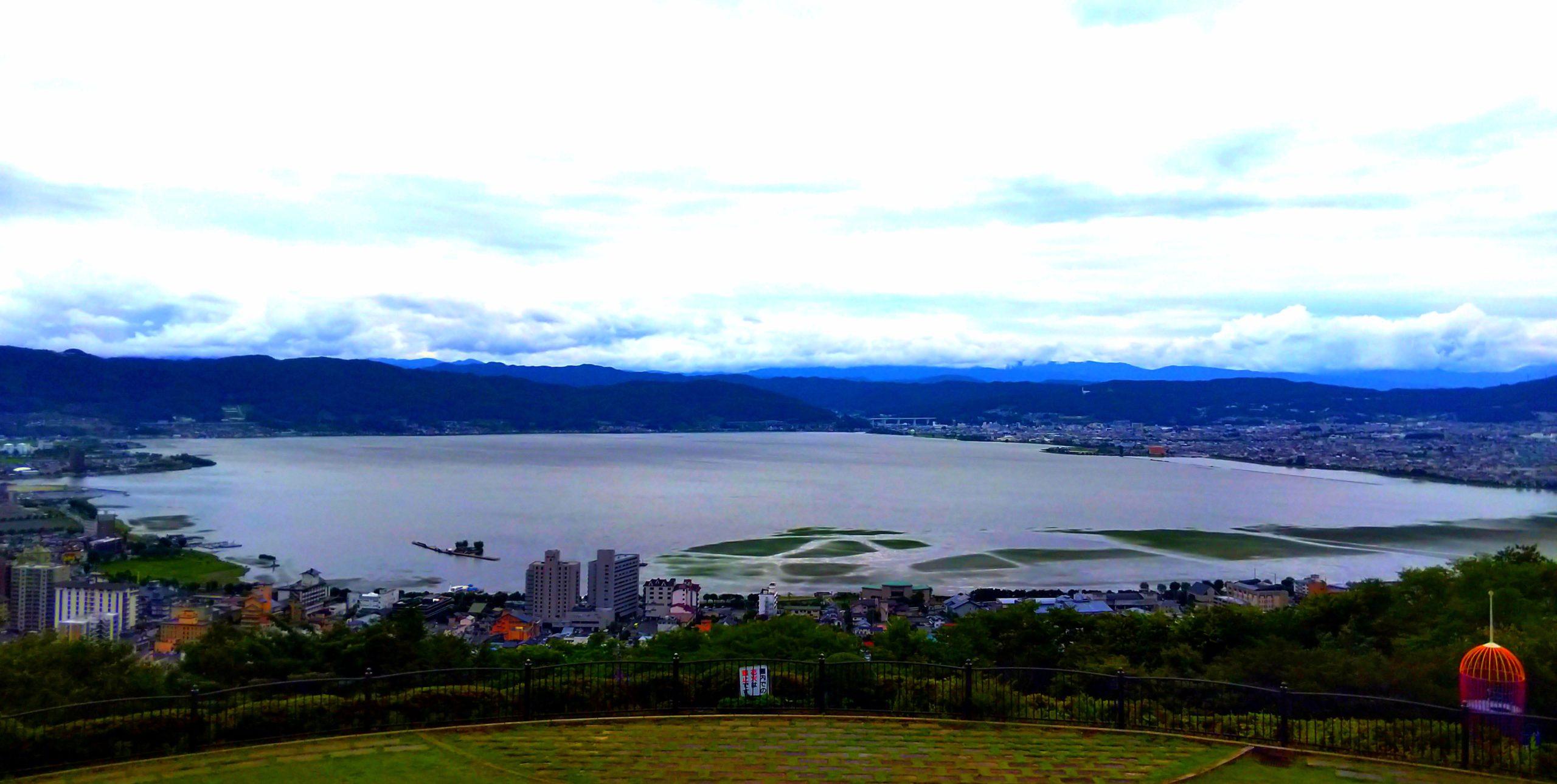 立石公園から見る諏訪湖