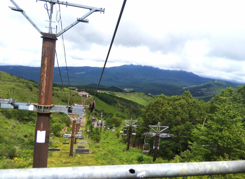 車山高原山頂の絶景スポットへ