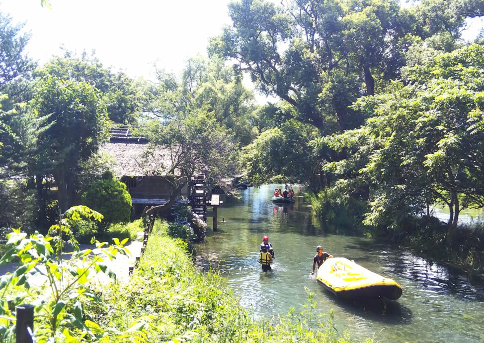 わさび農場:川下り